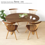 SERVE/サーブ ダイニングテーブル 豆型 ツートン