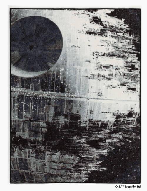 スターウォーズラグ ■ デス・スター(DEATH STAR)-ラグマット-95×130cm
