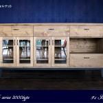 パイン無垢のキッチンカウンター