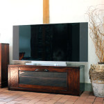 テレビボード 拭き漆で仕上げた和風モダンのテレビボード