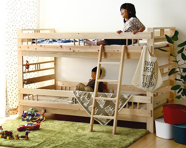 ひのきの二段ベッド/2段ベッド